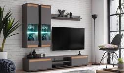 Set complet meuble tv avec rangement mural