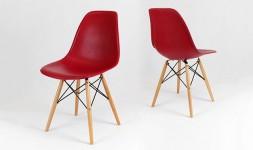 chaise eiffel rouge foncé