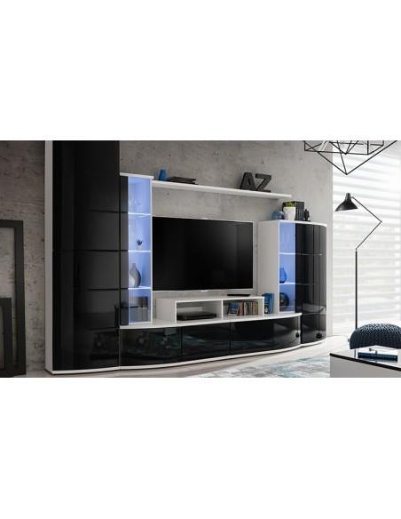 Meuble tv noir brillant