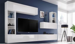 Meubles TV mural blanc