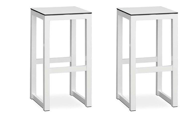 tabouret de bar d 39 ext rieur de luxe blanc leuven. Black Bedroom Furniture Sets. Home Design Ideas