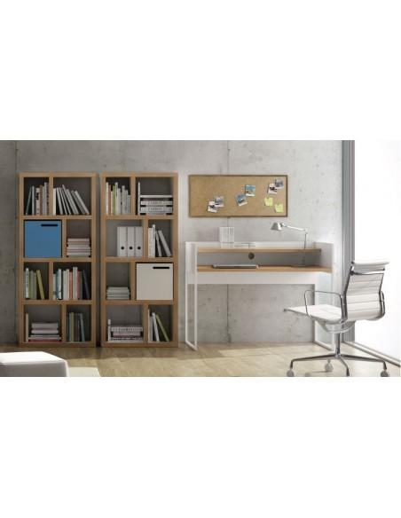 Bibliothèque bicolore 4 niveaux