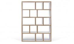 Grande bibliothèque blanche avec cubes de rangement