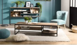 Table basse en bois récupéré