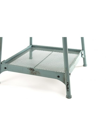 Table d'appoint métal vieilli