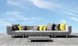 Sofa de jardin 4 places haut de gamme