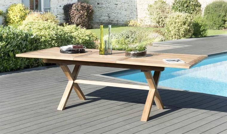 Table à manger de jardin en teck