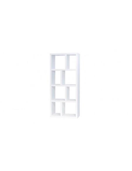 Bibliothèque design blanche géométrique
