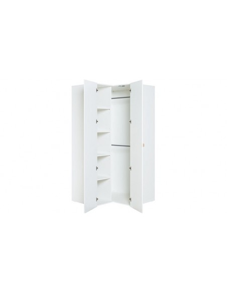 Penderie angle blanche enfant