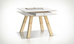 Table de cuisine carrée design