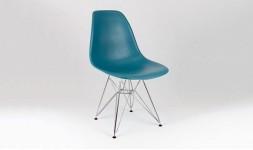 Chaise design bleu canard