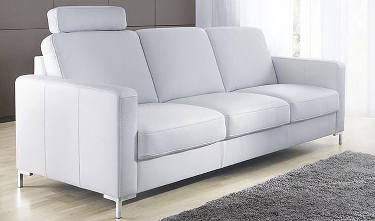 Canape Design Classique Convertible En Cuir 3 Places