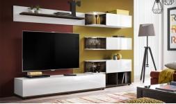 Ensemble meuble TV blanc