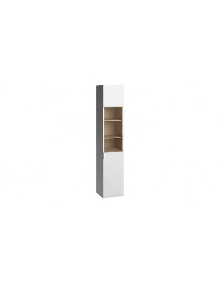 Vaisselier design blanc porte en verre