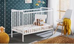 Lit bébé blanc en pin