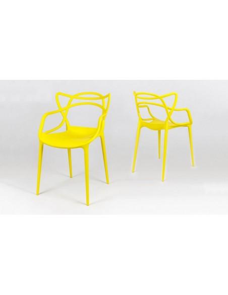 Fauteuil jaune design