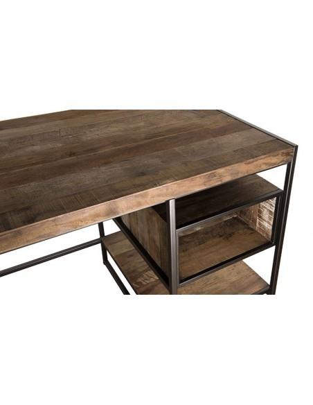 Bureau en bois recyclé