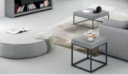 Table d'appoint avec plateau béton