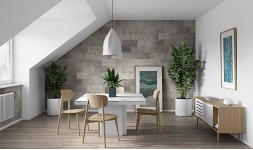 Table carrée marbre blanc
