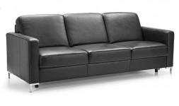 Canapé en cuir 3 places style classique