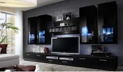 Ensemble meuble TV noir