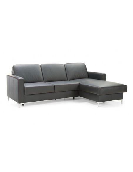 Canapé d'angle modulable et convertible en cuir