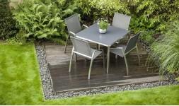 Table de jardin avec plateau en céramique