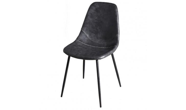 Chaise repas noire design