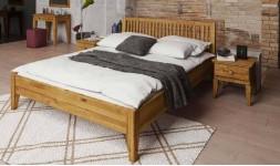 lit contemporain avec tête de lit à barreaux