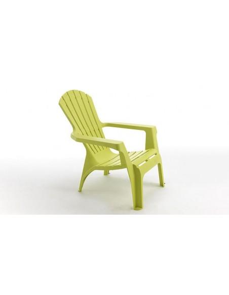 fauteuil vert anis plastique adirondack