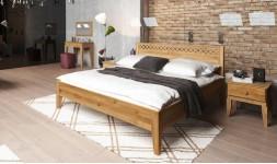 lit en chene massif avec croisillons