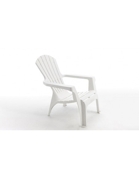 Fauteuil d'extérieur design blanc en plastique rigide