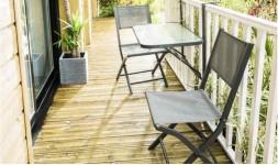 Table de balcon pliante grise