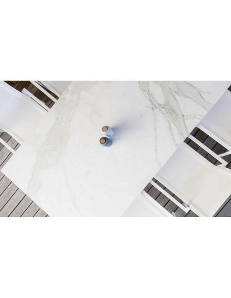 Table de jardin blanche pour hôtellerie de luxe