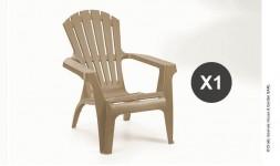 fauteuil de jardin en plastique résistant taupe