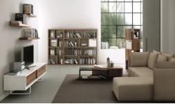 Bibliothèque design en bois Berlin 150