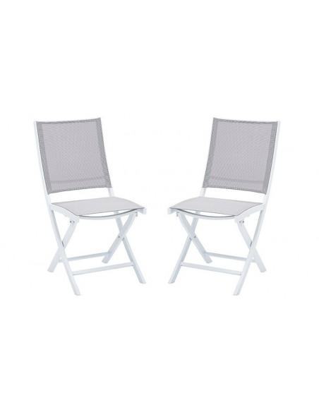 Chaises de jardin blanche pliante
