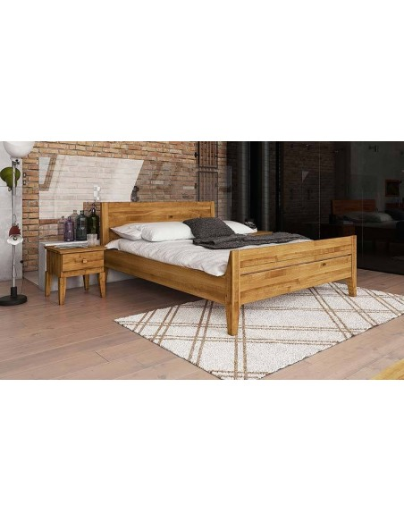 lit en chene massif tete de lit pleine alissia 3p