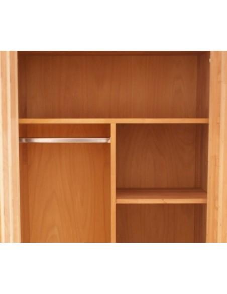Armoire dressing 2 portes bois massif