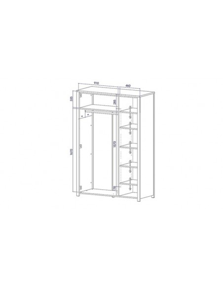 Armoire en bois 3 portes