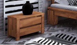 Chevet en bois massif 2 tiroirs