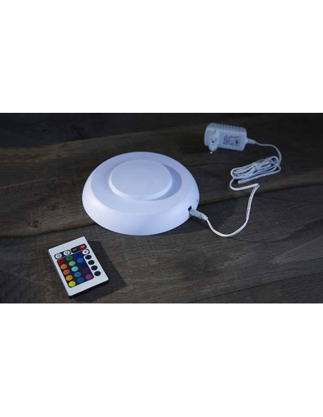Sphère lumineuse à LED multicolore 25 cm et télécommande