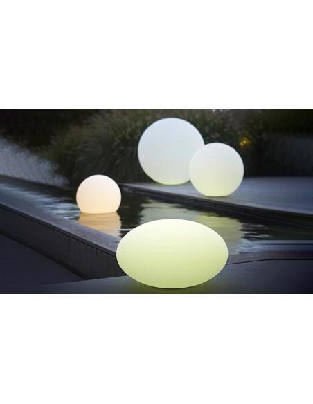 Boule lumineuse ronde LED multicolore intérieur et extérieur