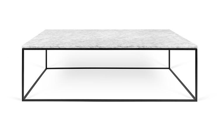 table basse rectangulaire en marbre blanc de carrare. Black Bedroom Furniture Sets. Home Design Ideas