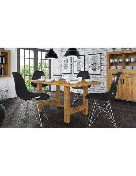 table design en chêne avec rallonge