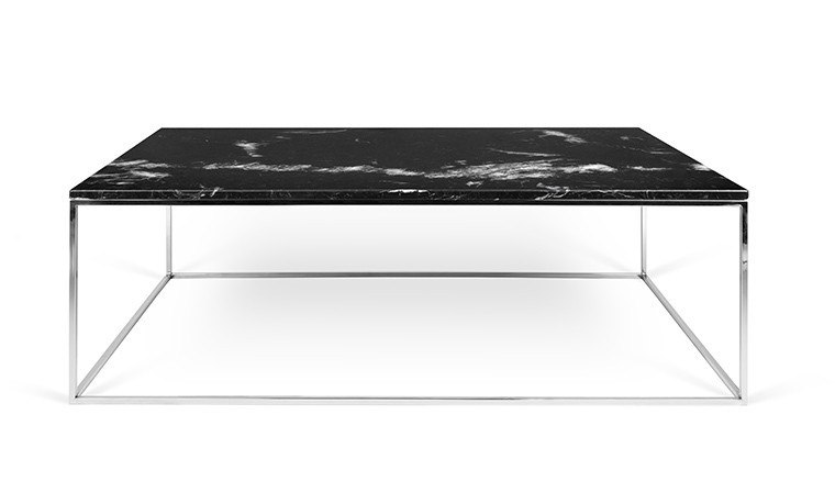 table basse avec plateau en marbre noir marquina et pieds. Black Bedroom Furniture Sets. Home Design Ideas