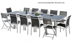 Salon de jardin extensible 12 places