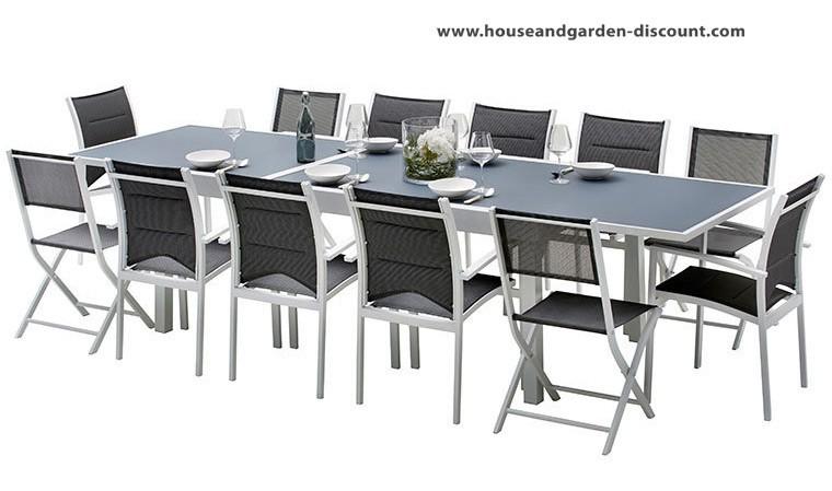 Salon de jardin extensible 12 places