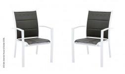Fauteuil de jardin gris et blanc design