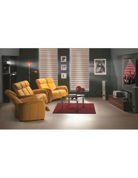 Canapé cuir 3 places CINÉ HOME - Canapé 3 places destiné au CINÉMA
